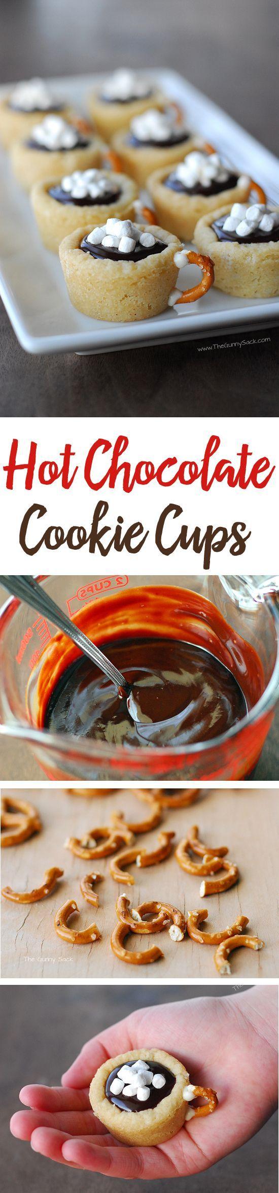 Hot Chocolate Cookie Cups Recipe