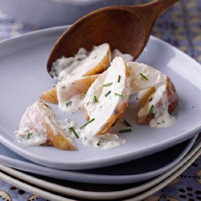 slow cooker creamy potato wedges