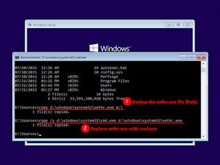 Reset Forgotten Windows 10 Password with Install Disk