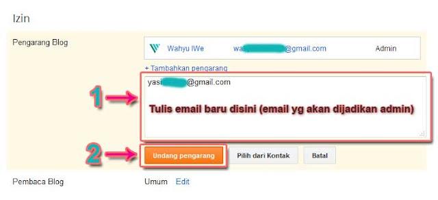 Cara Mengganti Email Pemilik Blog Untuk Jual Blog