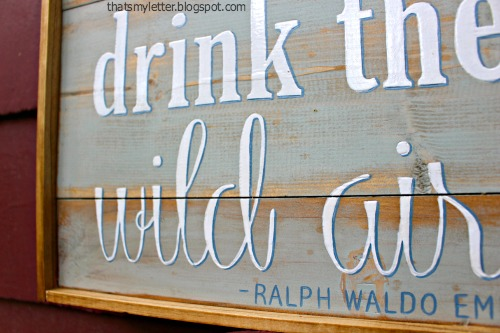 diy handpainted planked wood sign