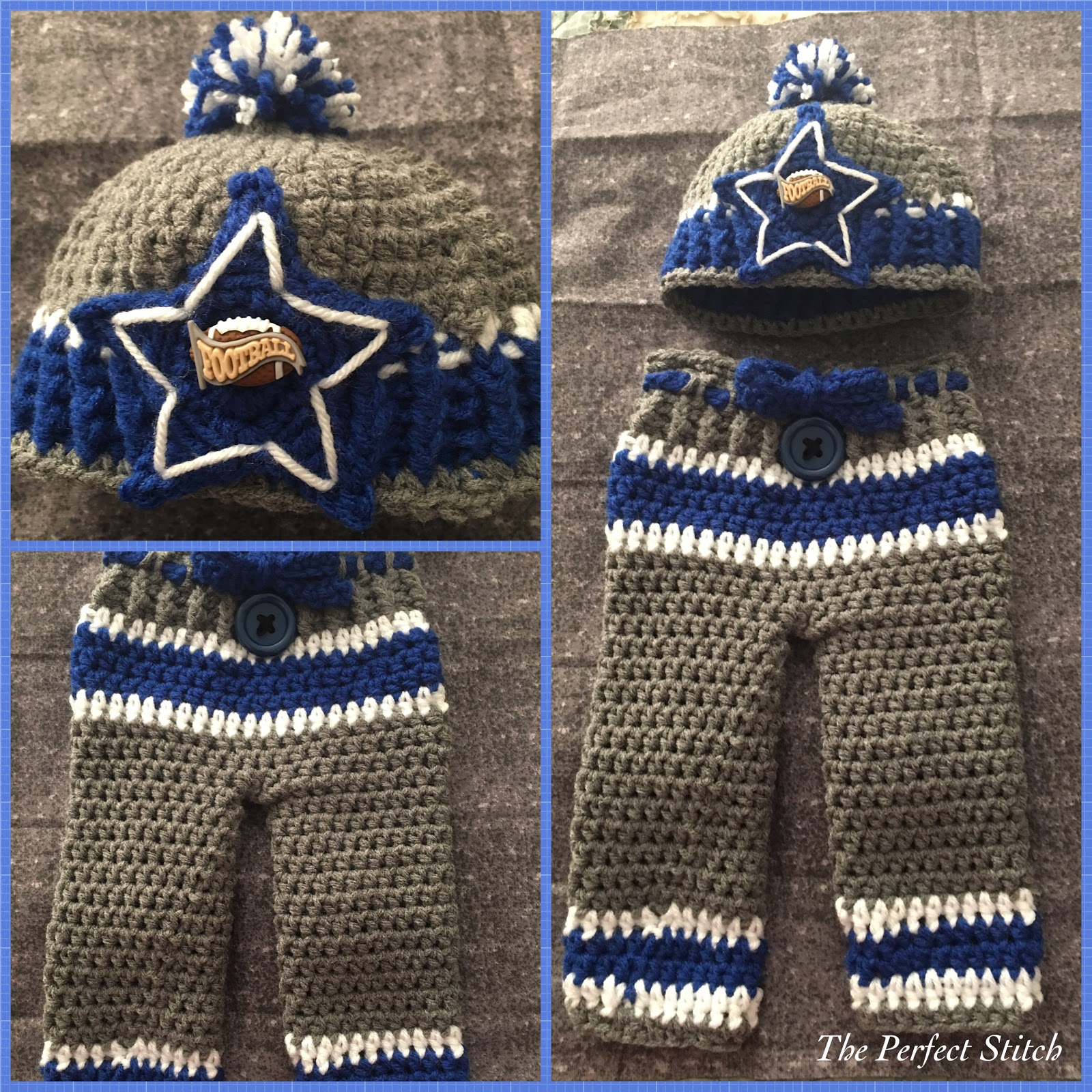 The Perfect Stitch Dallas Cowboys Hat Pant Set 0 3 Months