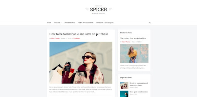spicer blogger template
