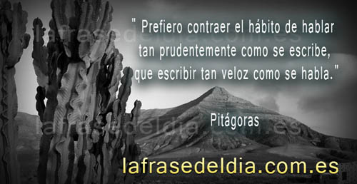 Citas célebres de Pitágoras
