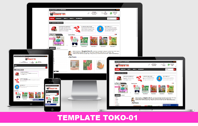 Toko Blogspot Template Toko-01