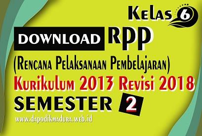 Unduh RPP Kelas 5 Semester 2 K13 Revisi 2018 SD/MI Lengkap