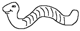 Dibujo de un gusano para colorear pintar