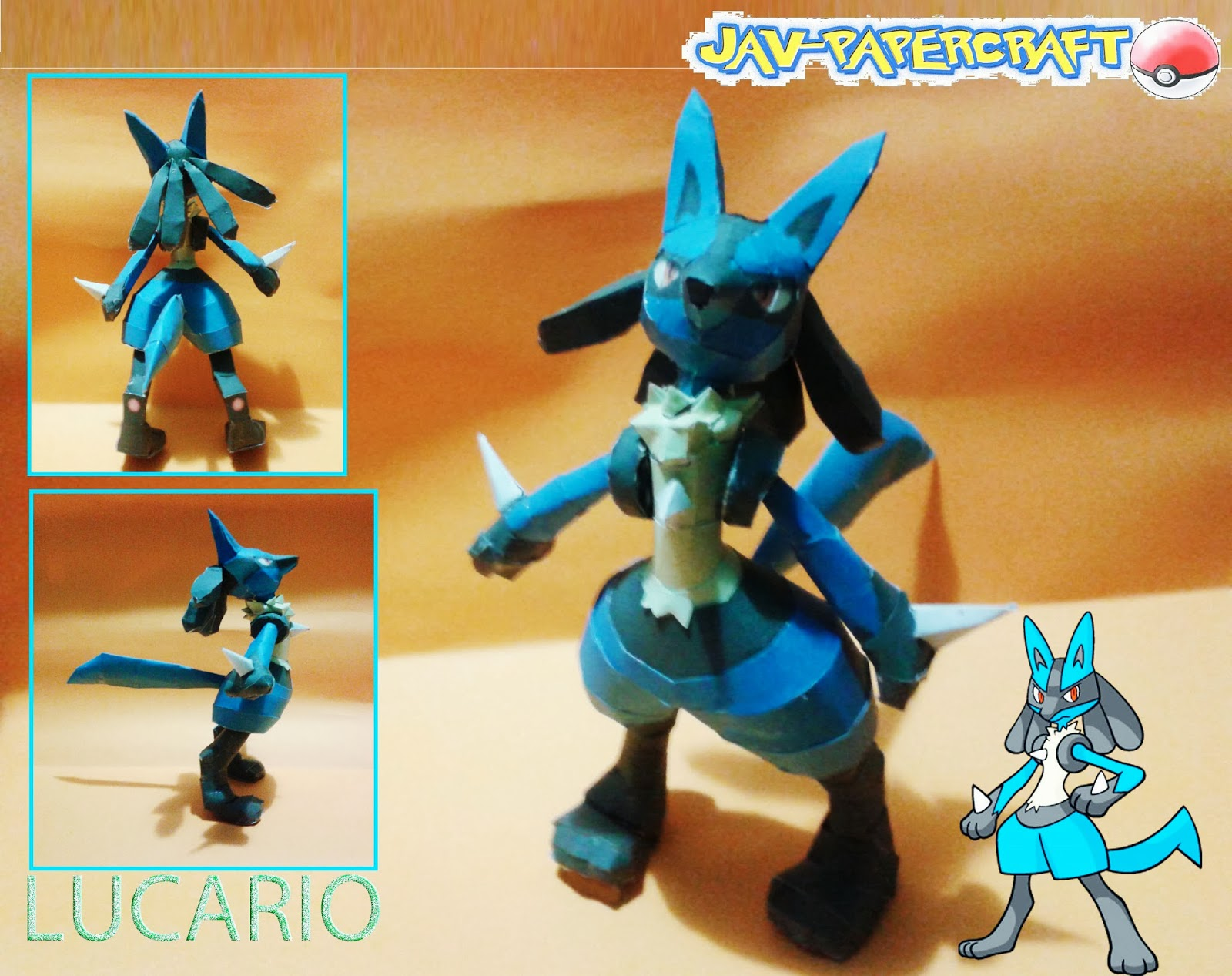 Pokemon Lucario Paper Model