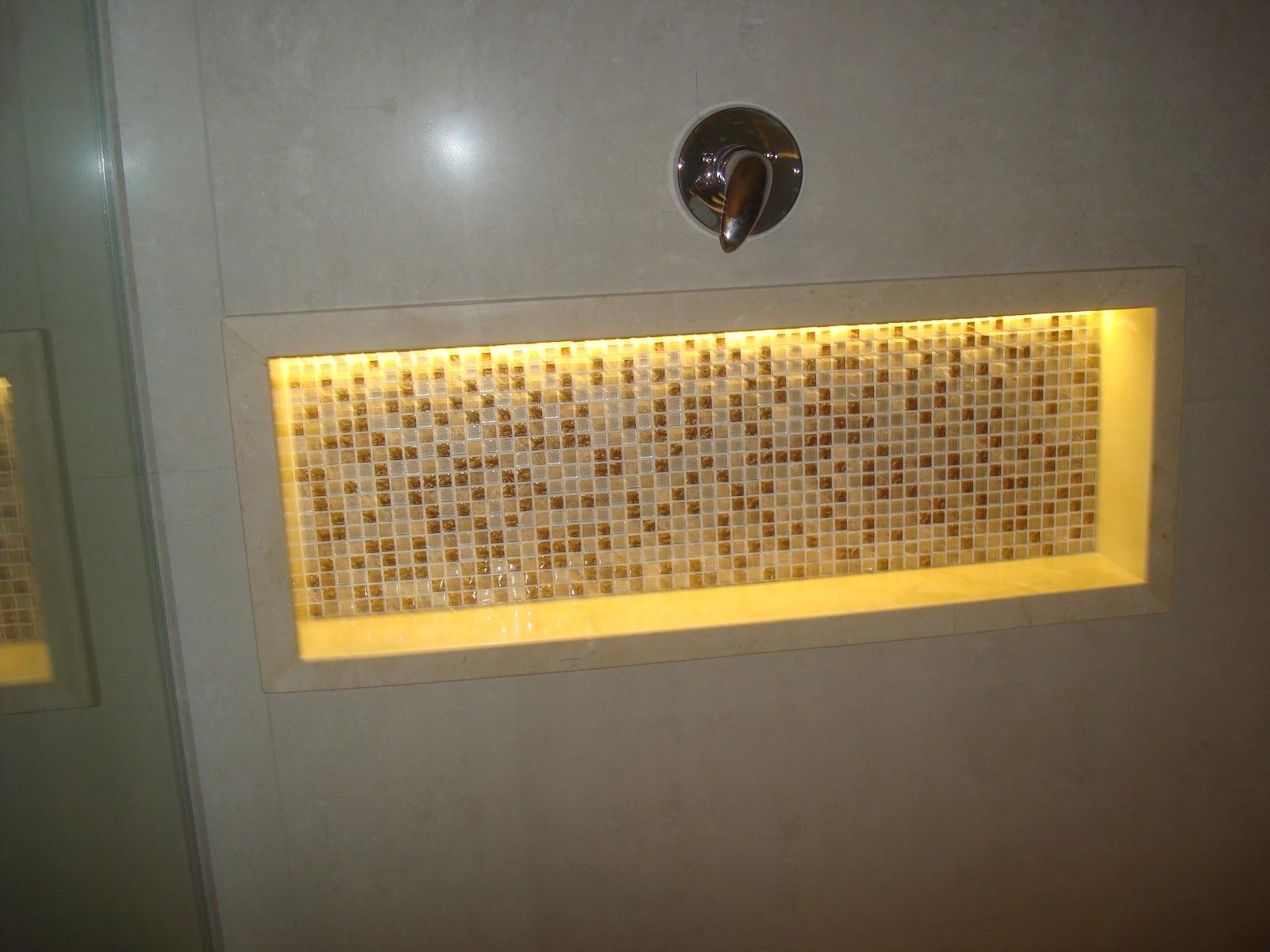 Construindo um Castelinho: Como fazer nichos de banheiro #B98E12 1600 1200
