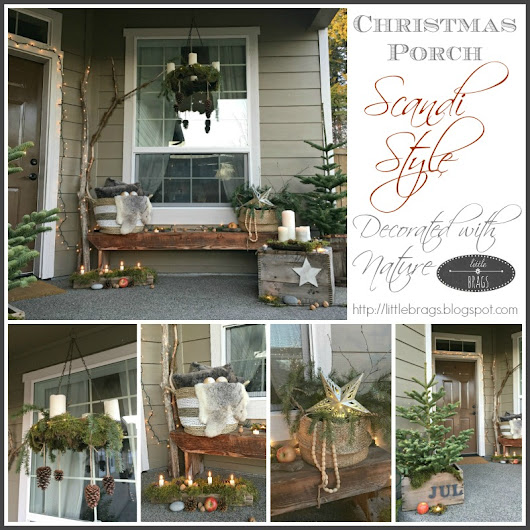 Our Christmas Porch and a Blog Hop Festival