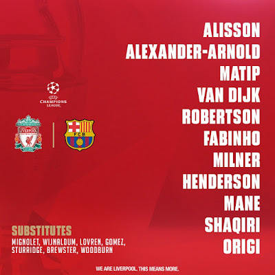 UEFA Champions League semi 2019 vs FC Barcelona Anfield