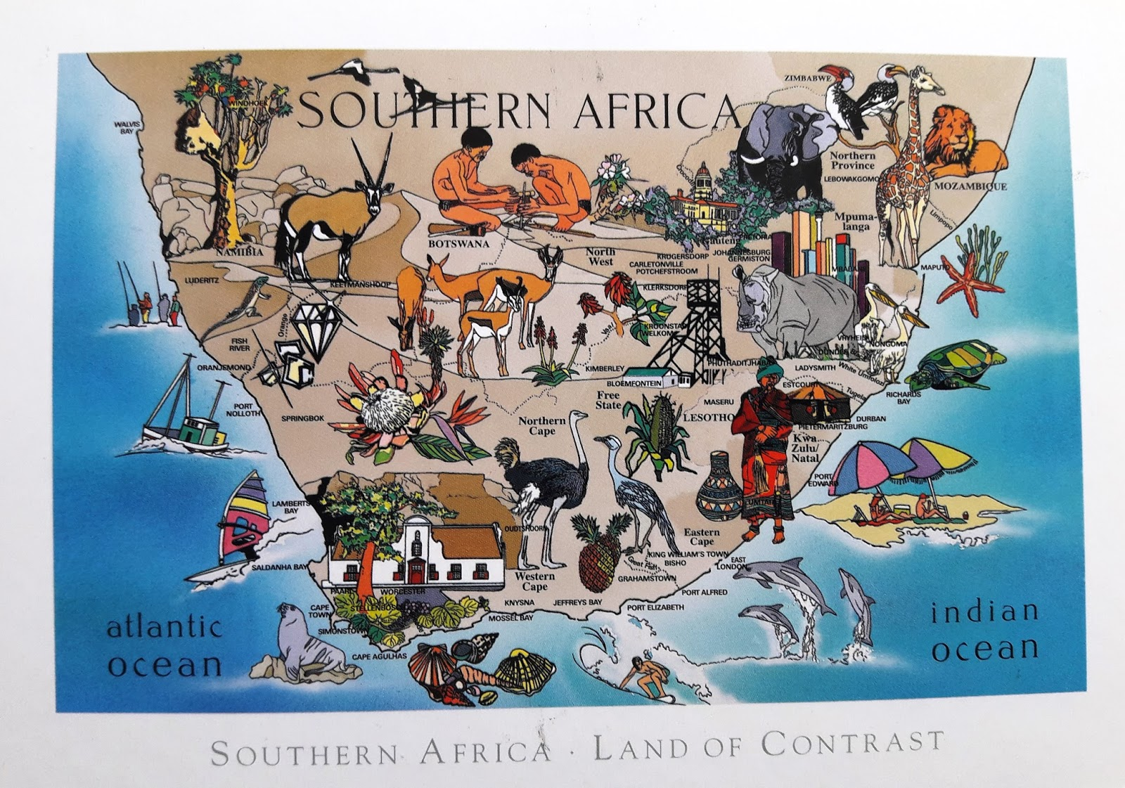 S Africa Map | Africa Map on