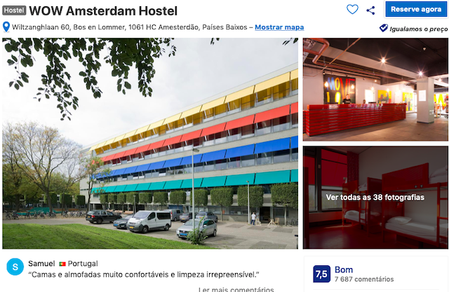 Hostel WOW em Amsterdã