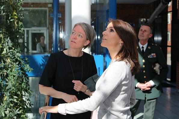 Princess Marie of Denmark visited Denmark Meteorology Institute in Copenhagen. The Danish Meteorological Institute (DMI) was established