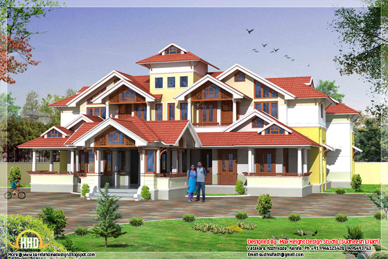 Super luxury Kerala mansion - 7450 Sq.Ft. - May 2012
