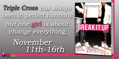 http://atomrbookblogtours.com/2013/10/02/arc-tour-break-it-up-by-e-m-tippetts/