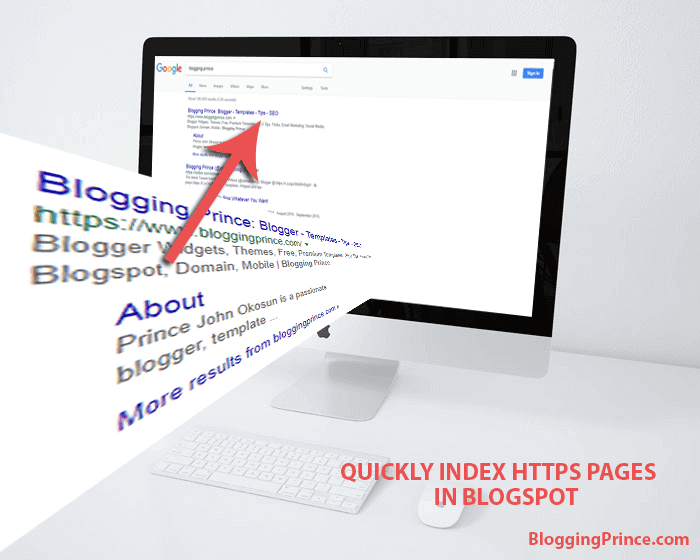 how to quickly index blogspot https pages