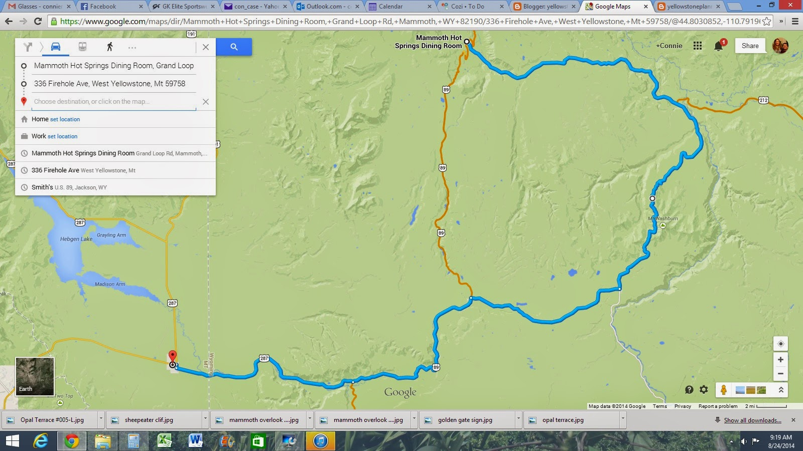 google earth map says trail is 3 9 miles takes 3 hours