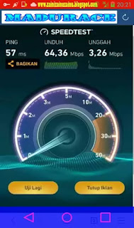 screenshot penguji speed internet