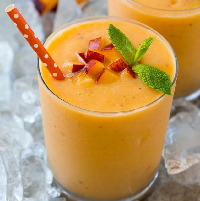Peach Smoothie #healthydrink #summer