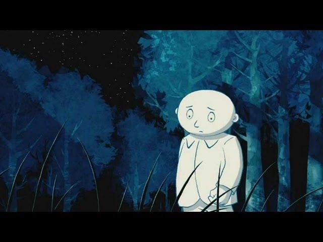 imagen interior donde hombre luna pasea por la noche