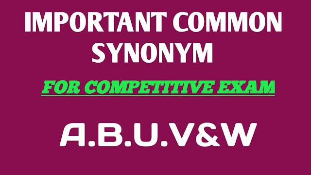 SYNONYM LIST,synonym