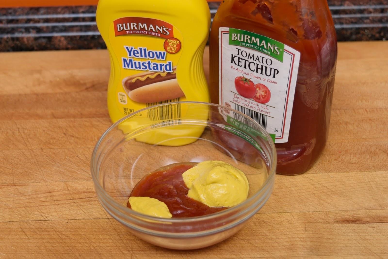 Ketchup And Mustard Mixed