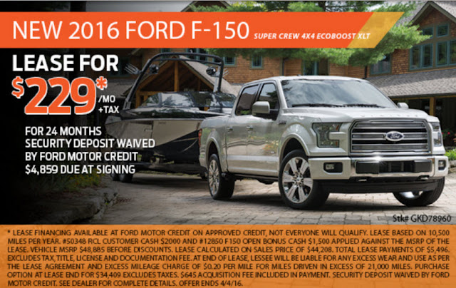 Ford Motor Credit Is Waiving The Security Deposit In Celebration Of Truck Month 4859 Due At Signing For Complete Details And Qualifications