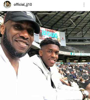 See Cute Photo of Jay Jay Okocha & His Handsome Son
