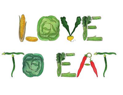 watercolor artist illustrator vegetables alphabet