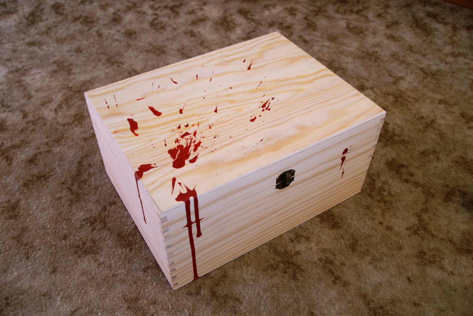 Box with blood