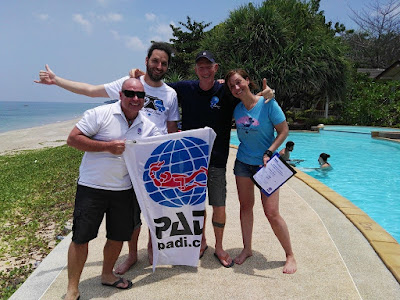 PADI IE on Koh Lanta, Thailand for April 2018 has been successfully completed