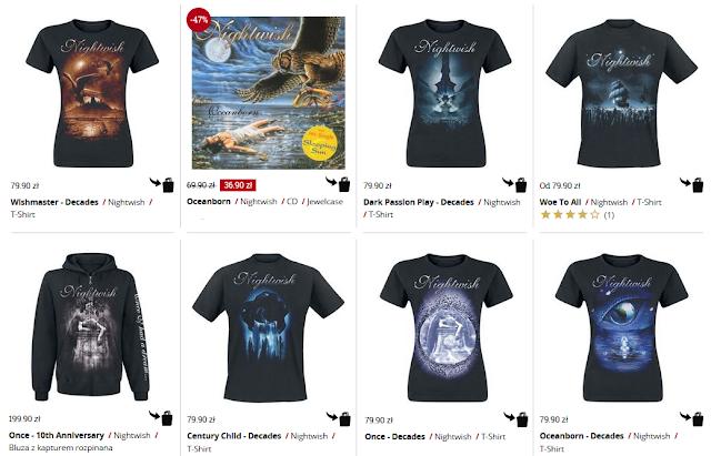 Nightwish - koszulki, bluzy, płyty