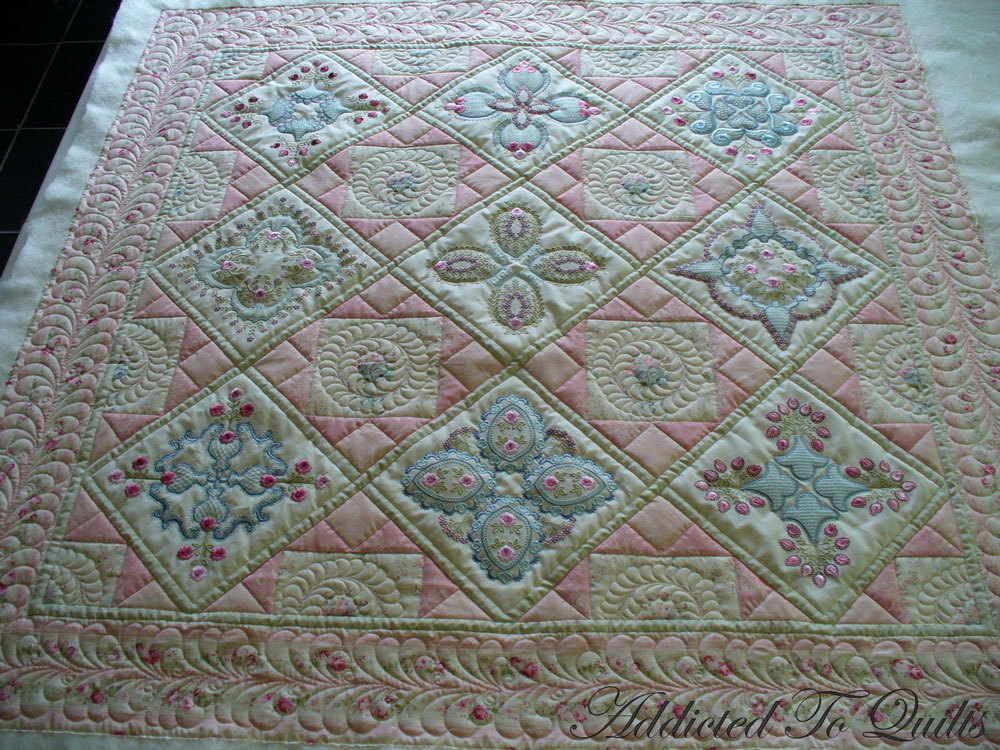 Addicted To Quilts Two Pretty Embroidery Quilts