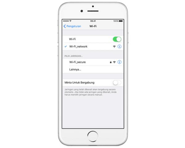 Cara Menghubungkan iPod Touch atau iPhone ke Wi-Fi
