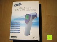 Verpackung: GHB Kontaktloses Infrarot Stirnthermometer Fieberthermometer Köperthermometer Temperature für Baby und Haushalt