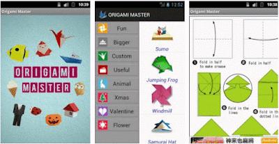 panduan cara membuat origami dengan aplikasi android