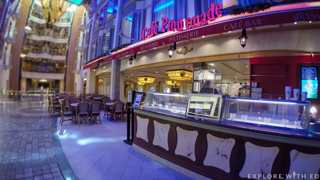 Cafe on Explorer of the Seas, Royal Caribbean promenade