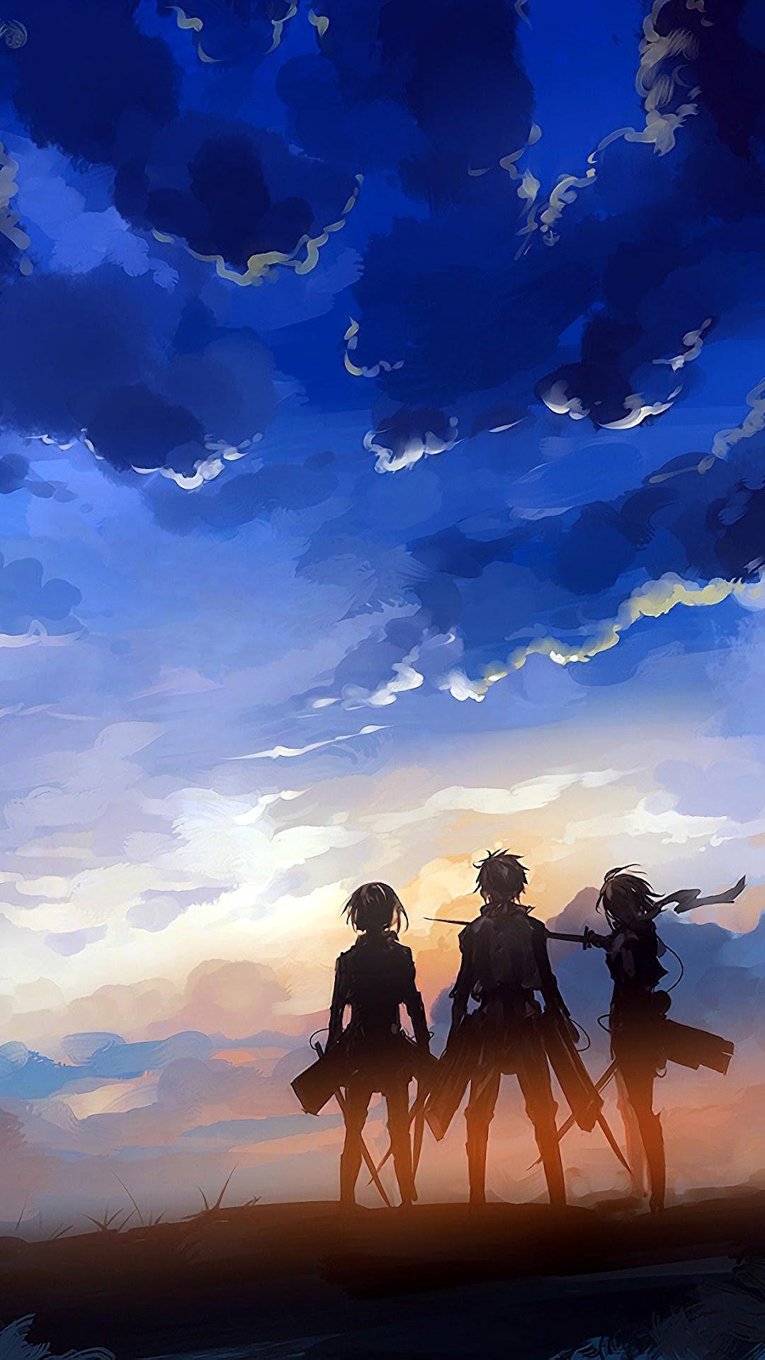 Attack On Titan Eren Armin Mikasa 4k Wallpaper 101