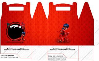 Miraculous Ladybug Free Printable Lunch Box,