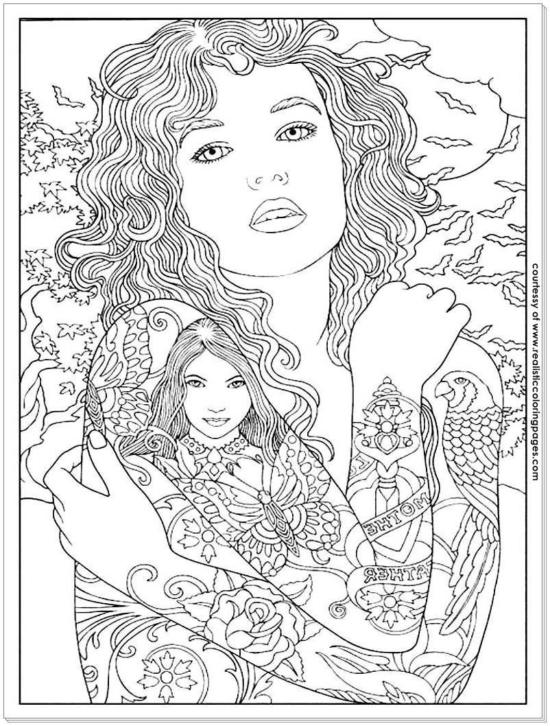 8 Tattoo Design Adults Coloring Pages Realistic Coloring Pages