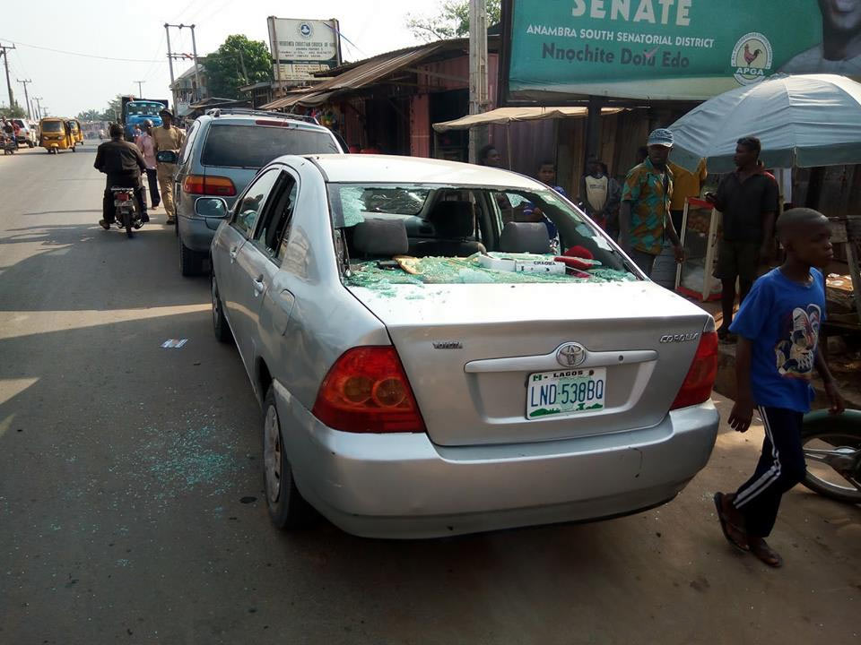 Photos: Armed robbers attack UBA Ukpor, Anambra State