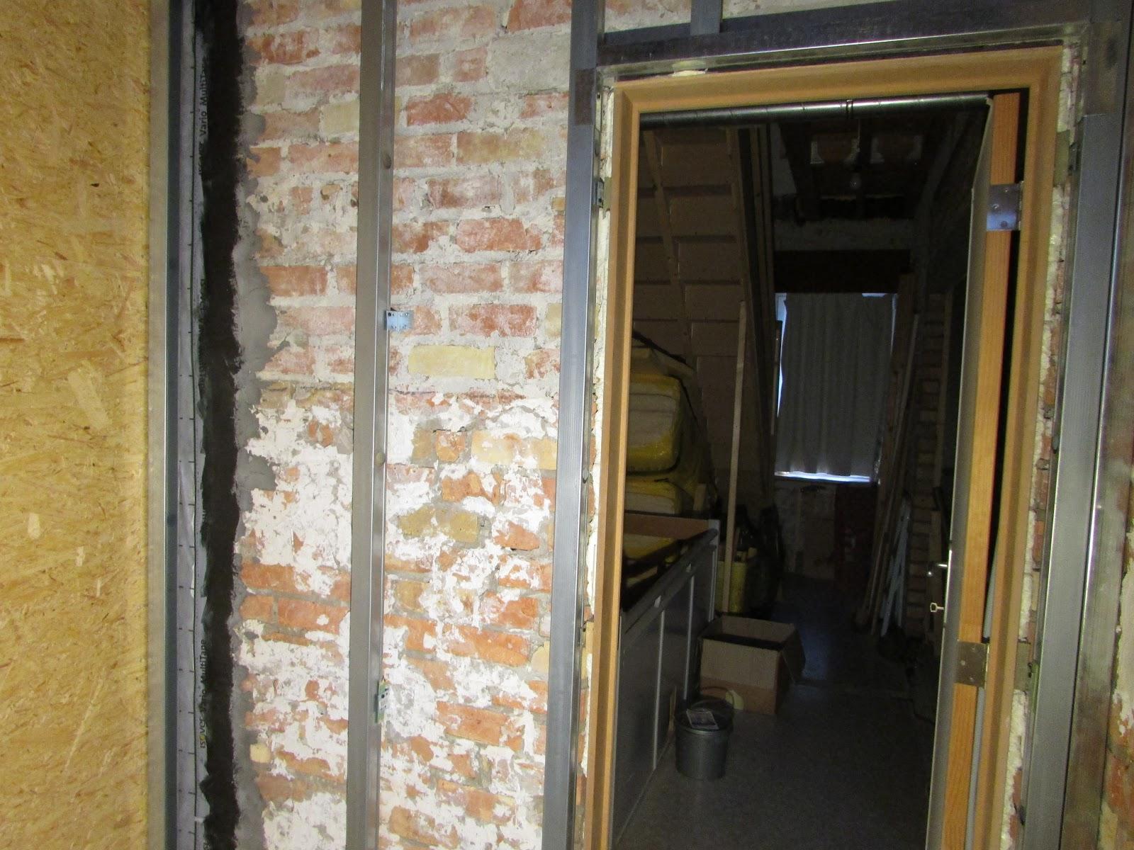 Verbouwing van ons ouderlijk huis voorzetwanden badkamer
