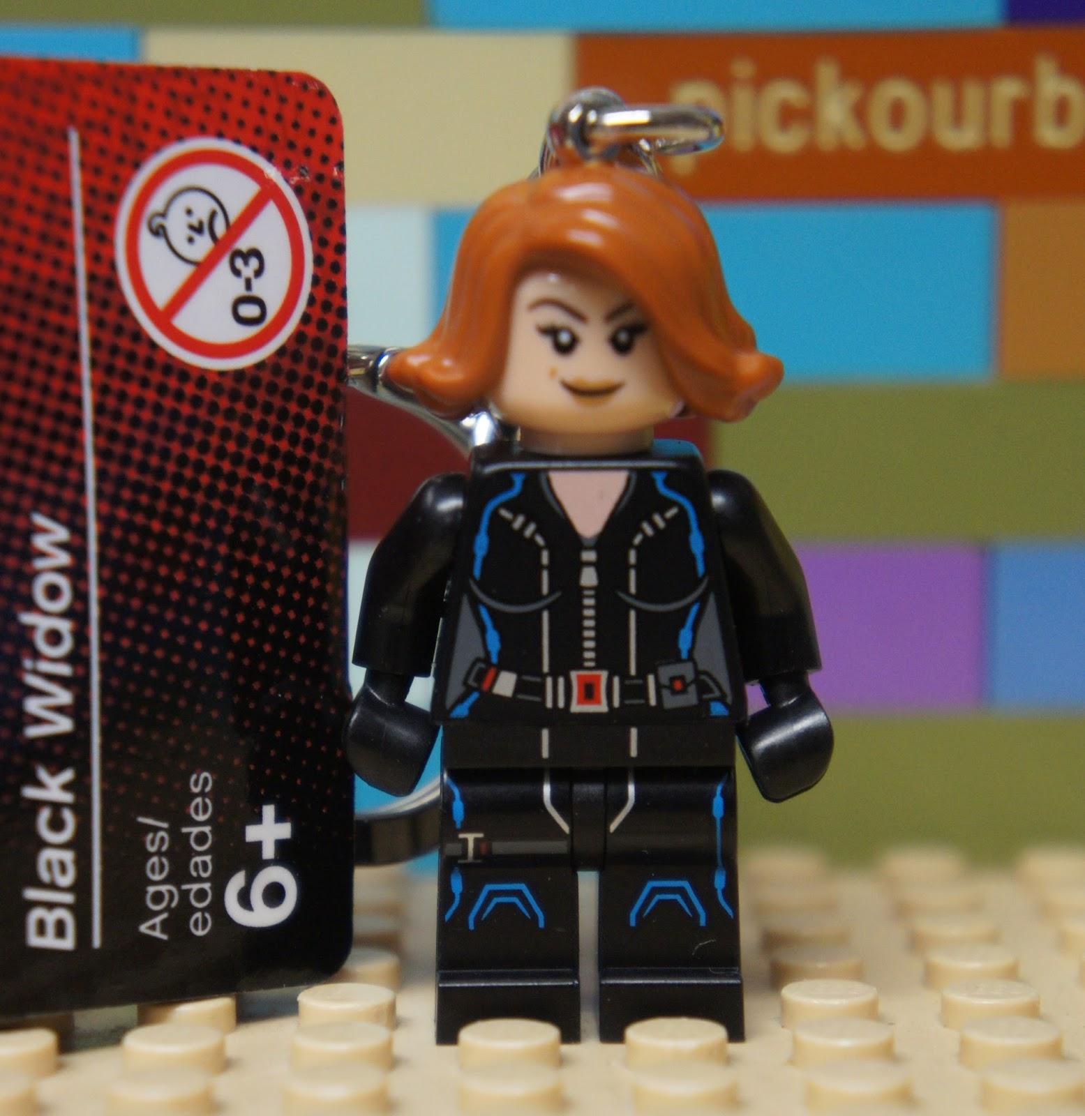 GENUINE LEGO BLACK WIDOW SUPERHEROES MINIFIGURE KEYRING
