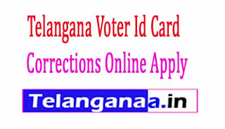 Telangana Voter Identity Card Corrections Online Apply