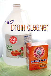 Image: Tidymom.net: Keep the plumber away - Natural Homemade Drain Cleaner