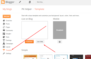 Edit HTML on blogger skilztools