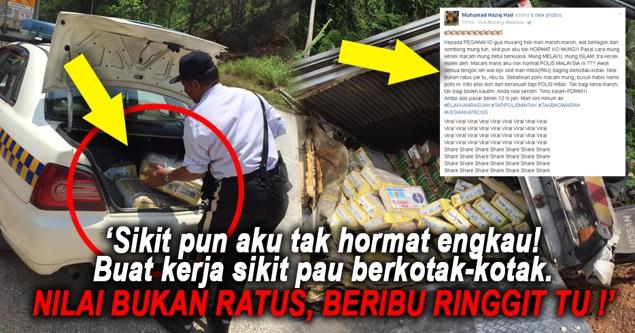 Korang Tengok Sendiri!! 'Macam Mana Aku Nak Hormat Polis Malaysia ! Kau Tu Melayu, Kau Tu Islam !'