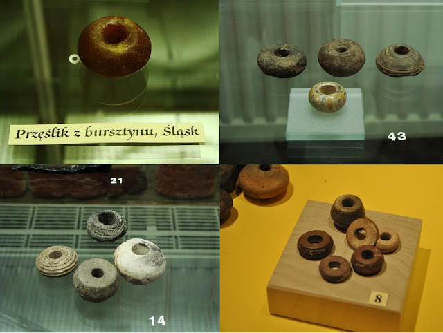 Artefakty z wykopalisk archeologicznych - przęśliki