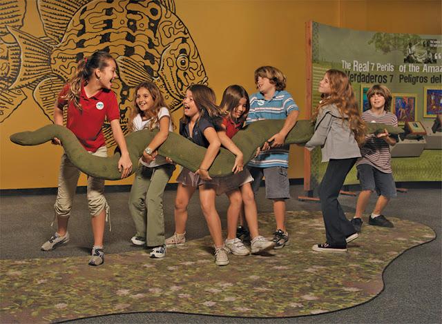 Crianças no Museu de Ciência Patrícia and Phillip Frost